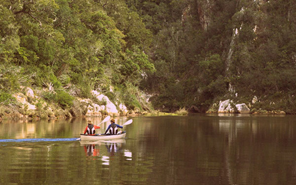 Canoeing on the Keurbooms River